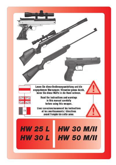 HW 25 L, HW 30 L, HW 30 M-II, HW 50 M-II de, fr, engl.